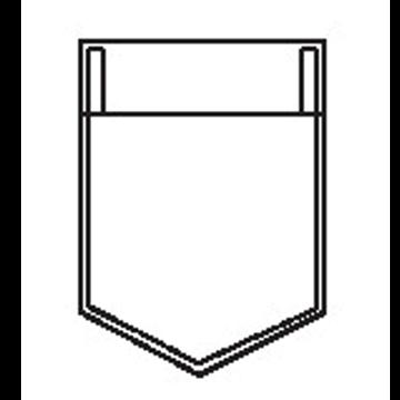 5300 - Dreiecktasche mit gerader Randfalte