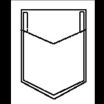 5302 - Dreiecktasche mit Dreieck Randfalte