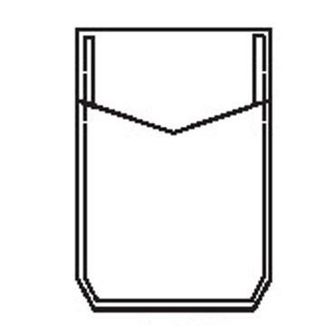 5310 - Sechsecktasche mit Dreieck Randfalte