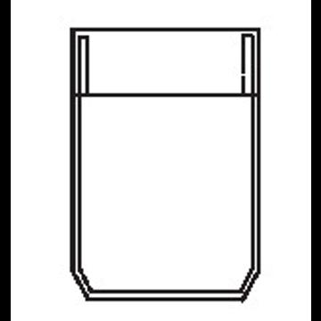 5312 - Sechsecktasche mit gerader Randfalte