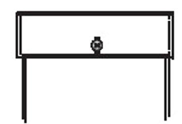 5376 - Pattenoption Rechteck 1 Knopf