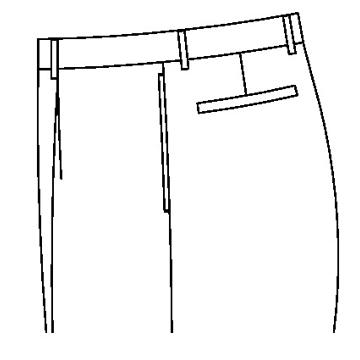 3130 - Taschen in der Seitennaht