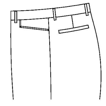 3133 - Gerade Jeans Tasche
