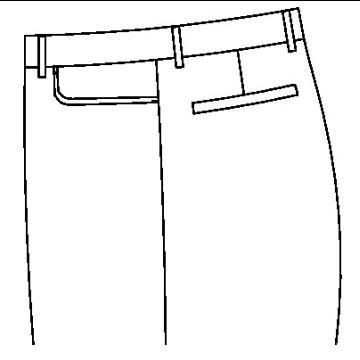 3136 - Runde Jeanstasche