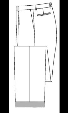 3603 - 3,8 cm Hosenaufschlag