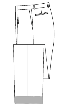 3604 - 4,4cm Hosenaufschlag