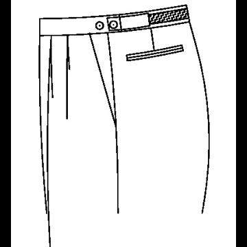 3351 - Verstellknopf am Hosenbund