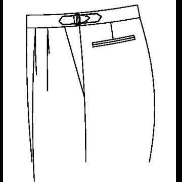 3352 - Verstellschnalle am Hosenbund