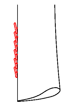 062Z - 6 Übereinanderliegende Knöpfe (Kissing Button)