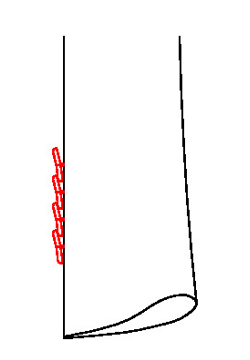 0622 - 4 Übereinanderliegende Knöpfe ( Kissing Button)
