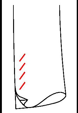 061C - Unechter Schlitz & unechte schräge Knopflöcher