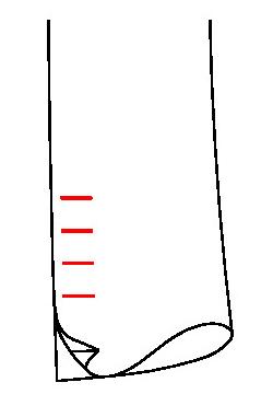 0611 - Unechter Schlitz & unechte Knopflöcher ( Standard)