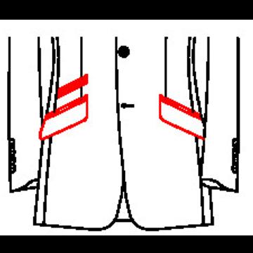 02A3 - Schräge Taschen mit schräger paspelierter Tickettasche