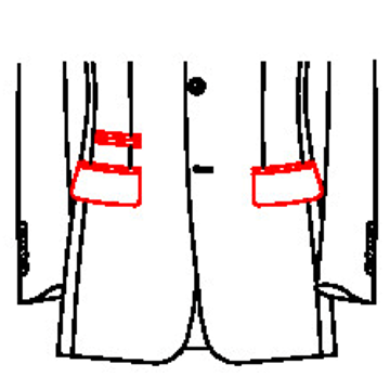 0204 - Pattentaschen mit Paspel - Tickettasche