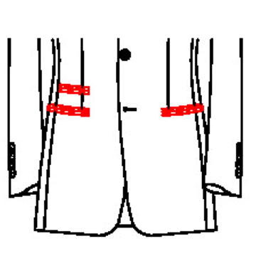 0234 - Paspeltaschen mit Paspel- Tickettasche
