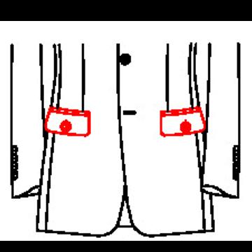 0238 - Pattentaschen mit Knopf und Knopfloch