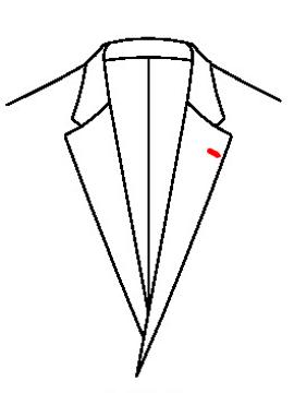 0541 - Knopfloch links ( Standard )