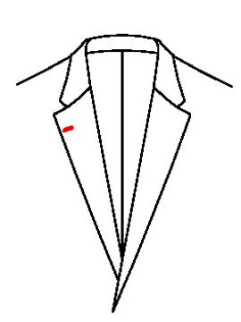 0542 - Knopfloch rechts