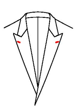 0543 - Knopfloch beidseitig