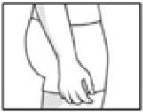 Normales Gesäß