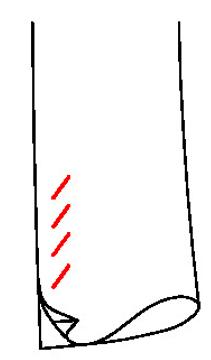 661C - Falscher Schlitz, schräge unechte Knopflöcher