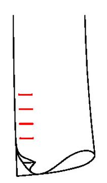 6611 - Falscher Schlitz, unechte Knopflöcher