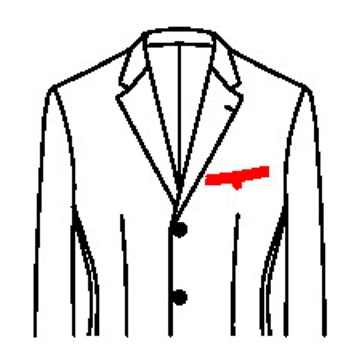 6111 - Paspeltasche mit Riegel und Knopf