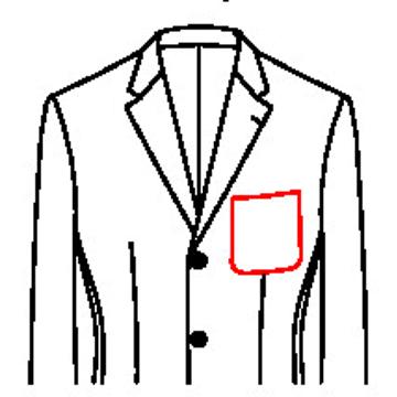 6150 - Aufgesetzte Brusttasche