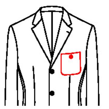 6151 - Aufgesetzte Tasche mit Knopf und Knopfloch