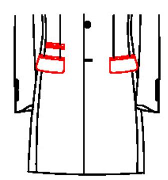 6204 - Pattentaschen mit Paspel Tickettasche