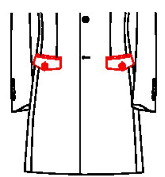 6211 - Diamantpatten mit Knopf und Knopfloch