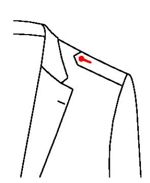 660B - Spitze Schulterklappen
