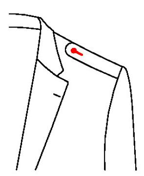 660E - Gerundete Schulterklappen