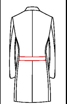 64H0 - Rückengürtel ohne Gehschlitz