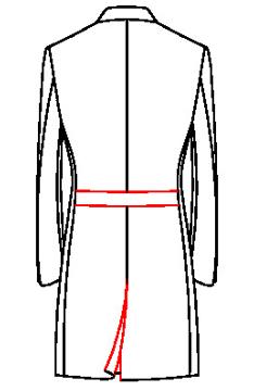 64H1 - Rückengürtel mit Gehschlitz