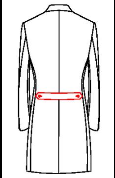 64X7 - Rückengürtel seitlich geknöpft