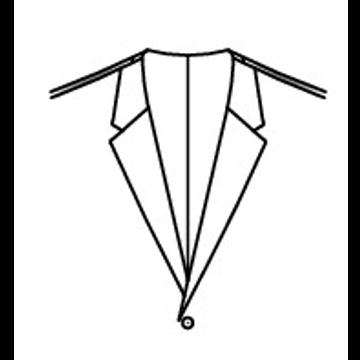 4004 - Fallendes Revers ohne Kragen