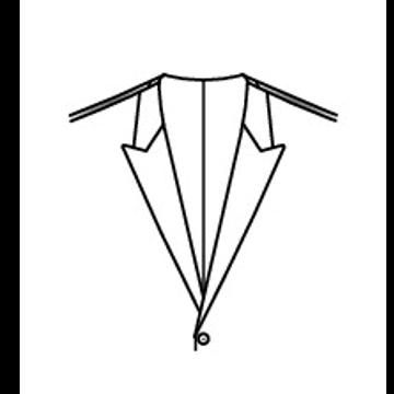4006 - Steigendes Rever ohne Kragen