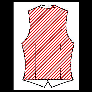 420B - Rückenteil aus passendem Futterstof ohne Riegel