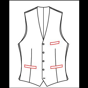 41A0 - Leistentasche mit Brusttasche
