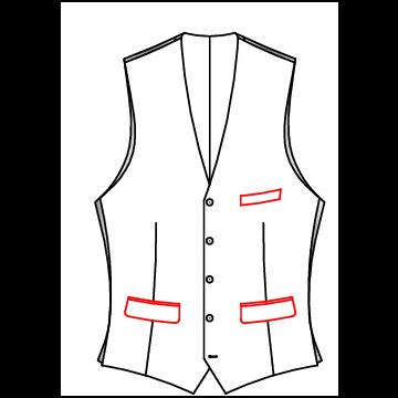41A2 - Untere Taschen mit Patten, Brusttasche Leistentasche