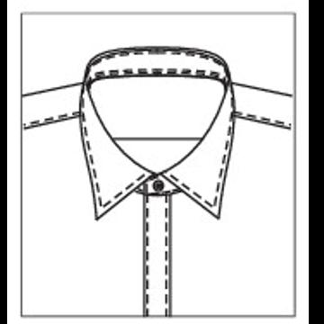5274 - Standard Kragenband mit 1 Knopf