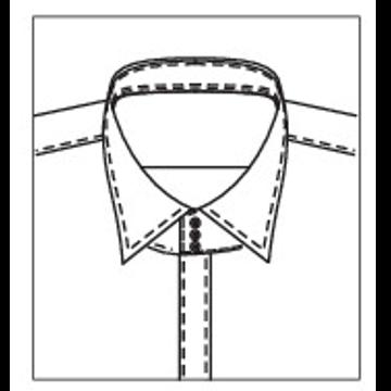 5276 - Kragenband mit 3 Knöpfen