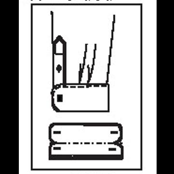 545T - Runde französchische Umschlagmanschette