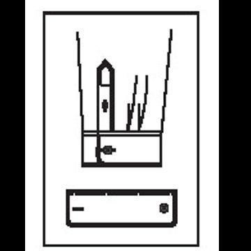 5410 - Standard rund 1 Knopf, 1 Knopfloch