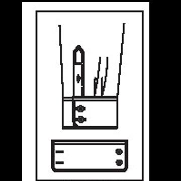 5415 - Runde Manschette mit 2 Knöpfen & 2 Knopflöchern