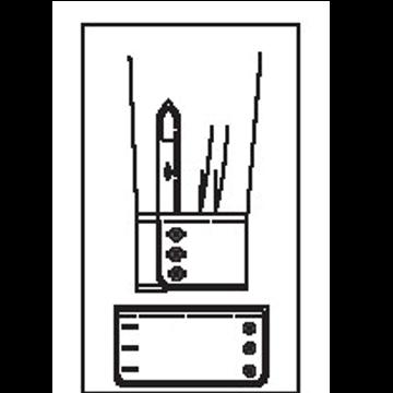 5423 - Runde Manchette mit 3 Knöpfen & 3 Knopflöchern